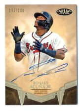 RONALD ACUNA JR. 2019 TOPPS TIER ONE BREAK OUT AUTO AUTOGRAPH #93/100 BRAVES