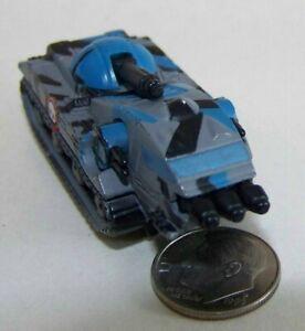 Small Micro Machine Plastic TX-4a Tank in Black, Blue & Gray Camo / White Skull