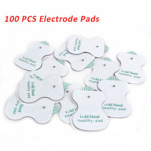 100x Replacement Electrode Pad Electric Therapy Tens Massager Unit Electrode Pad