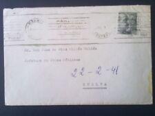 C5-CARTA MADRID FRANCO ARRIBA ESPAÑA A HUELVA 1941