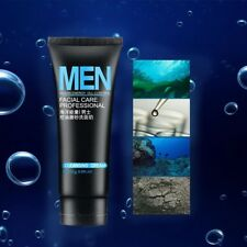 Mens Mud Facial Cleanser Face Wash for Oily Skin Blackhead Remover Foaming Pro