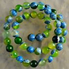 V3525-r 8mm Faceted Drop Color Agate Ball Loose Beads 14.5''