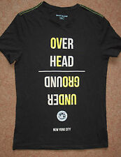 NEW! Sz S DKNY Jeans 'Over Head Under Ground' printed t-shirt top Mens/Womens