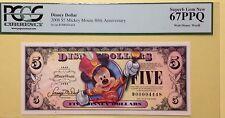 2008D $5 Mickey Band Leader Disney Dollar Graded By PCGS Superb Gem New 67PPQ