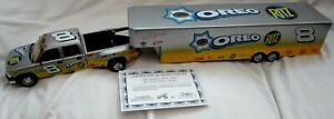 2003 Action Collectibles Dale Earnhardt Jr 1:24 Crew Cab Truck&Show Trailer#/572