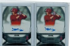 (2) 2010 BOWMAN STERLING TAYLOR LINDSEY ROOKIE AUTO LOT ANAHEIM ANGELS