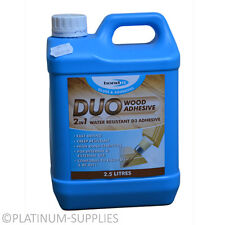 DUO 2 IN 1 WATER RESISTANT WOOD GLUE PVA TIMBER ADHESIVE D3 2.5 LITER 2.5LTR