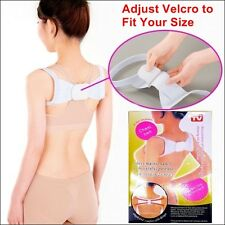 Therapy Adjustable Back Support Brace Belt Band Posture Shoulder Corrector Spine