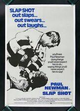 SLAP SHOT * CineMasterpieces PAUL NEWMAN HOCKEY MOVIE POSTER RARE FIGHTING 1977