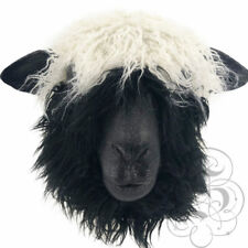 Realistic Latex Sheep with Fur Animal Party Halloween Prop Fun Photography Mask