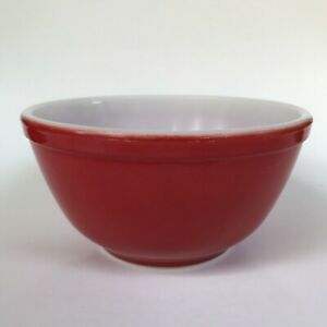 Vintage Pyrex 402 Primary Red Mixing Bowl Nesting 1.5 qt Made in U.S.A. A-56