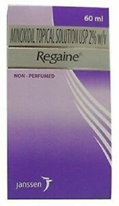 Pack Of 2 Regaine Minoxidil 2% Scalp Solution Hair Loss 60 ML