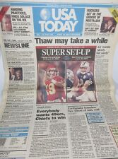 USA TODAY Jan 1994 Front Page Section JOE MONTANA TROY AIKMAN Dallas Cowboys