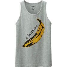 ANDY WARHOL x UNIQLO 'Banana (Velvet Underground)' Art Tank Top Men's M Gray NWT
