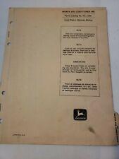 John Deere 480 Mower Conditioner Parts Manual Catalog Pc1049