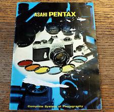 Original M42 Cámara Slr Pentax Spotmatic Lentes y Accesorios Brochure Folleto