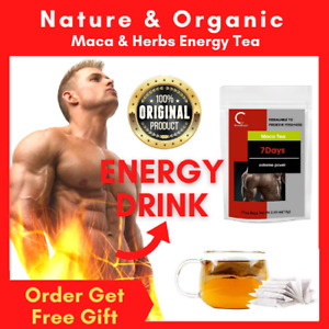 Organic MACA Herb Tea for Him / Enhance Men Health Libido  / Powder Horny Goat