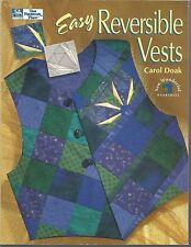 Easy Reversible Vests by Carol Doak - That Patchwork Place 1995
