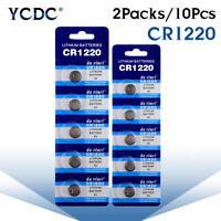 Battery CR1220 BR1220 DL1220 ECR1220 LM1220 3V Button Coin Cell Bulk 10Pcs D908