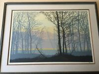 Large Landscape Limited Edition Lithograph Print, Signed & Numbered, Framed