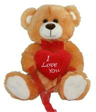 "*NEW* BROWN LOVE YOU TEDDY BEAR SOFT PLUSH VALENTINES DAY GIFT - 12"" Sitting"
