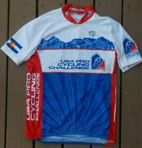 PEARL iZUMi Cycling Jersey USA Colorado Pro-Challenge 2011 Bike Race Men's Large