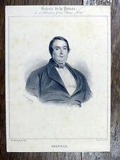 Lithographie BENJAMIN ROUBAUD Portrait de Ferville - Galerie de la Presse