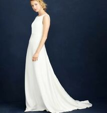 0a1cf91c8c1da J. CREW PERCY SHEATH IVORY WEDDING GOWN DRESS 2 NWT
