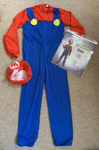 Kids Super Mario Bros Mario Dress Up / Fancy Dress Costume Age 10-12