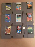 Lot Of 9 Classic Original Nintendo NES Video Games Cartridge Only