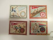 T51 Murad Tobacco Cards College Series 1910, 17 Card Lot