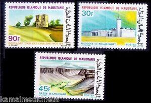 Mosques, Dam, Tourism, Mauritanian 1968 Mint Hinged 3v