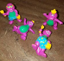 Lot of 4 1993 SMALL BARNEY FIGURE IN RAINCOAT LYONS GROUP unique china