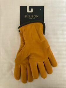 NWT FILSON Original Lined Goatskin Leather Gloves - Size M