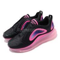 Nike Air Max 720 Black Pink Blast Men Running Casual Shoes Sneakers AO2924-005