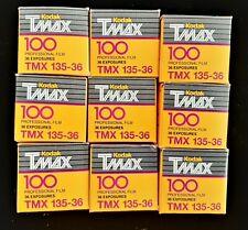 New listing 9 36-exposure 35mm rolls Kodak Tmax 100. Expired 10/1995. Kept Frozen.