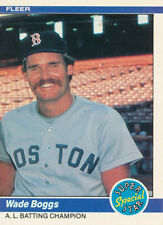 1984 Fleer Wade Boggs #630 Boston Red Sox Baseball Card