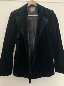 Guess Women's Black Velvet Blazer Size M