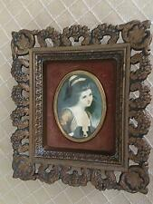"Vintage Cameo Creation ""Lady Hamilton"", Velvet, Wall Mount Frame"