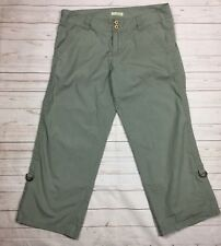 Billabong Juniors Size 7 Cargo Capri Pants Lightweight Army Green