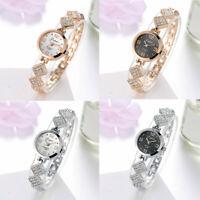 Fashion Ladies Women Bracelet Watch Stainless Steel Rhinestone Quartz Wristwatch