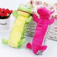 Durable Pet Dog Puppy Cat Chew Squeaker Squeaky Hippo Training Plush Sound Toy