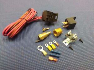 CHEVROLET CAMARO NOVA CHEVELLE ELECTRIC FAN RELAY TEMP CONTROLLED WIRING HARNESS