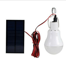 Solar Panel LED Bulb Light Portable Indoor Outdoor Camping 15W 130lm White Lamp