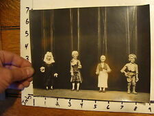 Vintage MARIONETTE PHOTO: the magic violin YOUGOSLAVIA