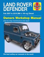 Haynes Workshop Manual 6398 Land Rover Defender 90 110 130 Diesel 2007-2016 NEW