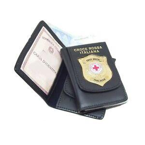 Portafoglio Portadocumenti Placca CRI Croce Rossa Italiana Vega Holster 1WD117