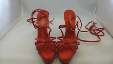 Dolce & Gabbana Red Patent/Suede Strappy Platform Sandals Size 40/10 Pre-Owned