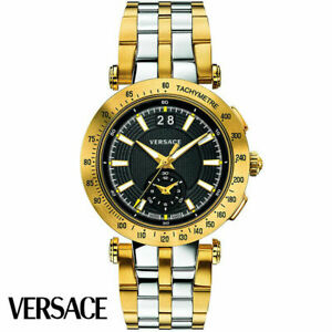 Versace VAH020016 V-Race Sport Chronograph Stainless Steel Men's Watch NEW