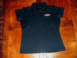 Cleveland Indians Women's Button Collar Medium T-Shirt Antigua Embroidered